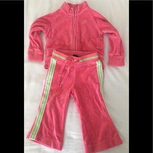 Girls matching Ralph Lauren sweat suit